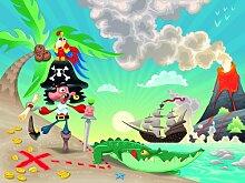 Vlies Fototapete - Kindertapete - Pirat auf Insel