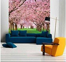 Vlies Fototapete KIRSCHBAUM 220 x 220 cm   Wandbilder XXL - Riesen Wandbild - Wand Dekoration - Vliestapete - Wandtapete   PREMIUM VLIES QUALITÄT