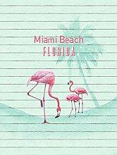 Vlies Fototapete Miami Beach Florida Flamingo