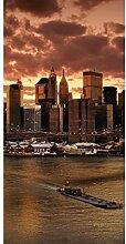 Vlies Fototapete NEW YORK 110 x 220 cm | Wandbilder XXL - Riesen Wandbild - Wand Dekoration - Vliestapete - Wandtapete | PREMIUM VLIES QUALITÄT
