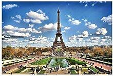 Vlies Fototapete PARIS 330 x 220 cm | Wandbilder XXL - Riesen Wandbild - Wand Dekoration - Vliestapete - Wandtapete | PREMIUM VLIES QUALITÄT