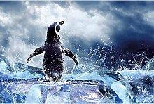 Vlies Fototapete PINGUIN 330 x 220 cm | Wandbilder XXL - Riesen Wandbild - Wand Dekoration - Vliestapete - Wandtapete | PREMIUM VLIES QUALITÄT