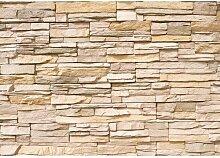 Vlies Fototapete PREMIUM 400x280cm ASIAN STONE WALL by liwwing | ab 34,95 EUR als BASIC Vlies | Vliestapete, Tapete Steinoptik, Steinwand, Stonewall