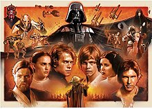 Vlies Fototapete PREMIUM PLUS Wand Foto Tapete Wand Bild Vliestapete - Star Wars Cartoon Illustration - no. 1816, Größe:208x146cm Vlies