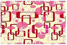 Vlies Fototapete ROTE VIERECKE 330 x 220 cm | Wandbilder XXL - Riesen Wandbild - Wand Dekoration - Vliestapete - Wandtapete | PREMIUM VLIES QUALITÄT