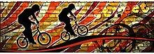 Vlies Fototapete ROTES FAHRRAD 330 x 110 cm   Wandbilder XXL - Riesen Wandbild - Wand Dekoration - Vliestapete - Wandtapete   PREMIUM VLIES QUALITÄT