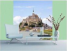 Vlies Fototapete SAINT MICHEL 220 x 220 cm   Wandbilder XXL - Riesen Wandbild - Wand Dekoration - Vliestapete - Wandtapete   PREMIUM VLIES QUALITÄT