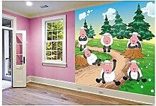 Vlies Fototapete SCHAFE 220 x 220 cm | Wandbilder XXL - Riesen Wandbild - Wand Dekoration - Vliestapete - Wandtapete | PREMIUM VLIES QUALITÄT
