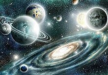 VLIES Fototapete-SOLAR SYSTEM-254x184 cm-2