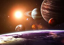 VLIES Fototapete-SOLAR SYSTEM-300x223 cm-6