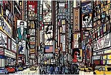 Vlies Fototapete TIMES SQUARE 330 x 220 cm   Wandbilder XXL - Riesen Wandbild - Wand Dekoration - Vliestapete - Wandtapete   PREMIUM VLIES QUALITÄT