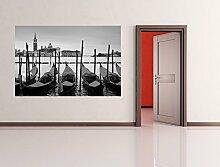 Vlies Fototapete - Venedig I - schwarz weiss - 225x150 cm - inklusive Kleister - Tapetenkleister – Bild auf Tapete – Bildtapete – Foto auf Tapeten – Wand – Wandtapete – Vliestapete – Wanddeko - Design