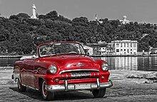 VLIES Fototapete-VINTAGE CAR-312x219cm-3