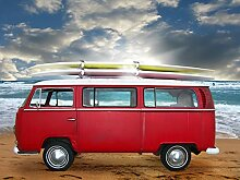 VLIES Fototapete-VW BUS-350x260 cm-7