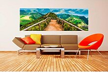 Vlies Fototapete WANDERWEG 330 x 110 cm   Wandbilder XXL - Riesen Wandbild - Wand Dekoration - Vliestapete - Wandtapete   PREMIUM VLIES QUALITÄT