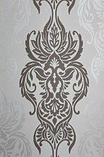 Vlies Tapete 40873 Barock Muster creme/beige braun silber