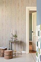 Vlies Tapete Antik Holz rustikal beige grau verwitter