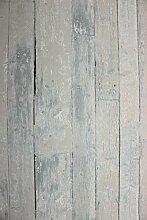 Vlies Tapete Antik Holz rustikal toop grau verwitter