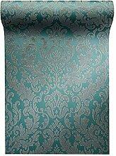 Vlies Tapete Barock Muster Ornament Glitzer effekt