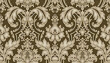 Vlies Tapete Barock Ornament braun gold beige