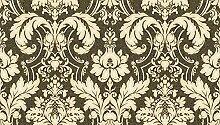 Vlies Tapete Barock Ornament schwarz gold beige