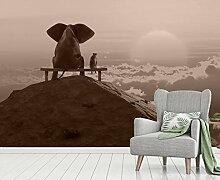 Vlies Tapete Fototapete Elefant Freundschaft