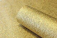 Vlies Tapete gold uni Struktur Hochwertige