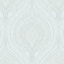 Vlies Tapete Klassisches Barock Ornament weiß