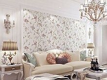 Vlies Tapete-Moderne Wanddeko Lila Baumblume für