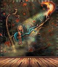 Vlies Tapete Poster Fototapete Fantasy Mond