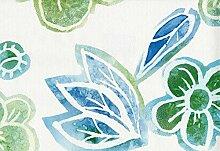 Vlies Tapete Retro Blumen Muster Floral (Retro