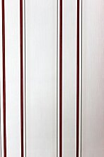 Vlies Tapete Steifen Muster creme weiß rot grau 18561
