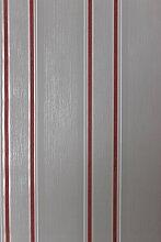 Vlies Tapete Steifen Muster grau rot 18562