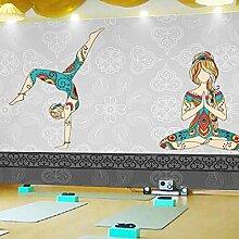 Vlies Tapete Wandbilder 3D Thai Yoga Beauty Cement