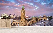 Vlies Tapete XXL Poster Fototapete Hamburg Hafen