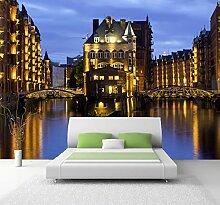 Vlies Tapete XXL Poster Fototapete Hamburg