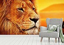 Vlies Tapete XXL Poster Fototapete Panorama Löwe