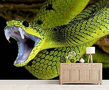 Vlies Tapete XXL Poster Fototapete Schlange grün