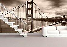 Vlies Tapete XXL Poster Fototapete USA Golden Gate