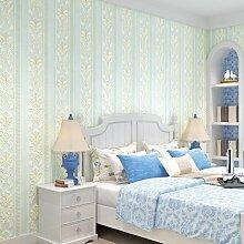 Vliesgewebe, Damaskus Tapeten, 3D, dreidimensional, raffiniert, europäischen Stil Tapete, Wohnzimmer, Schlafzimmer, TV, Hintergrund, Wand, Tapete, Sky blue