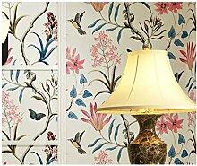 Vliestapete-weiße Land-Blumen und