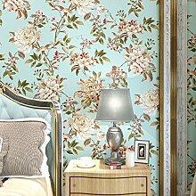 Vliestapete American ländlichen Tapeten Schlafzimmer Wohnzimmer Studie Hintergrundbild-C
