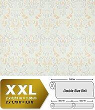 Vliestapete Barock-Tapete XXL EDEM 966-24 Muster Ornament klassisch Tapete beige creme weiß | 10,65 qm