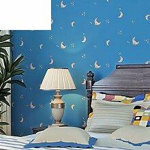 Vliestapete/Blue Moon Star Tapete/jungen und
