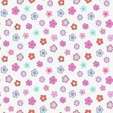 Vliestapete Blumen türkis pink rosa Everybody