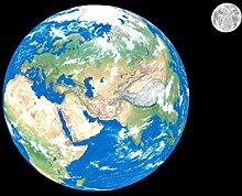 Vliestapete Erde mit Mond 400cm x 280cm Fototapete