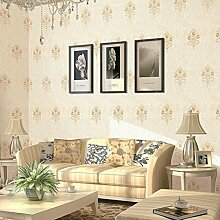 Vliestapete Europäische Stickertapete Villa Schlafzimmer Wohnzimmer Dekoration Aufkleber , 3
