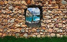 Vliestapete Fototapete in 3D-Optik Rocky Mountains