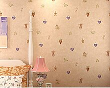 Vliestapete/Fürsorgliche Kinderzimmer Tapete/Schlafzimmer Wohnzimmer Tapete/TV Kulisse Tapete/Grüne Tapete-B
