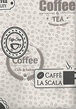 Vliestapete Kaffeebohnen Coffee Cupcakes creme braun Küchentapete 18480
